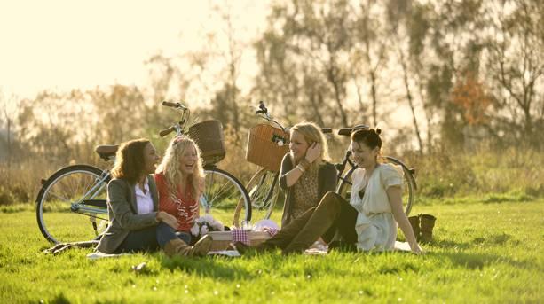 Picnicking on a bike ride in Bristol