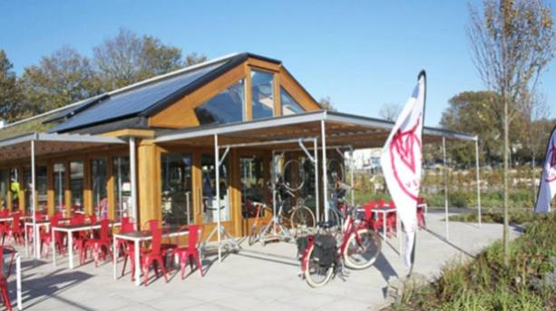 Photo of the exterior of the Velo Café