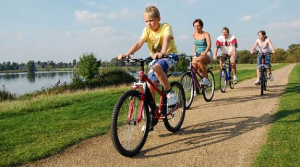 Family cycling, Milton Keynes