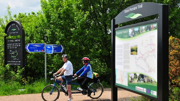 Cyclists on the Trans Pennine Trail
