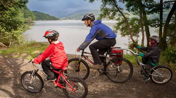 Cycling on Windermere West Shore