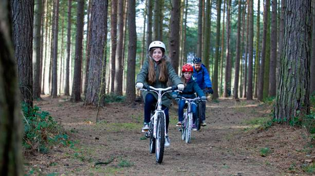 Cycling in Sherwood Pines