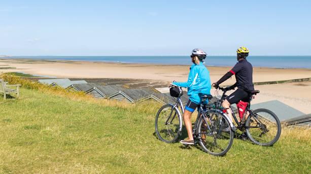 Cycling at Minnis Bay, Birchington