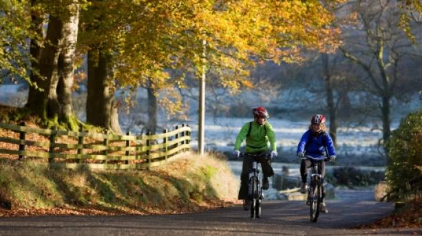 Cycling in the Forest of Bowland, Lancashire