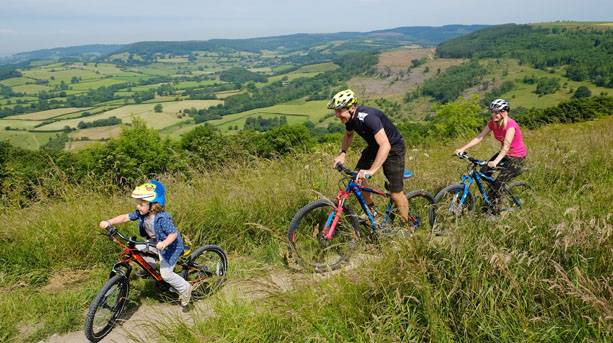 Cycling on Sutton Bank trails