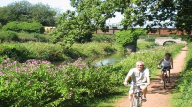 Cycling on the Grand Western Canal