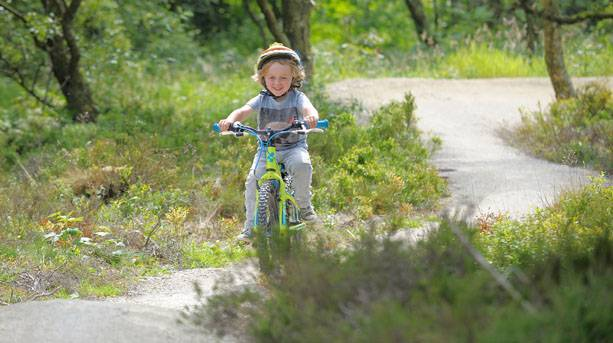 Cycling on the skills area at Sutton Bank