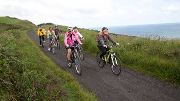 Cyclists on Cinder Track