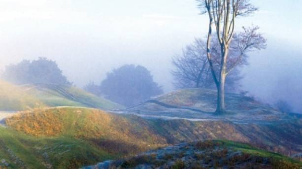 Danebury early morning in the mist