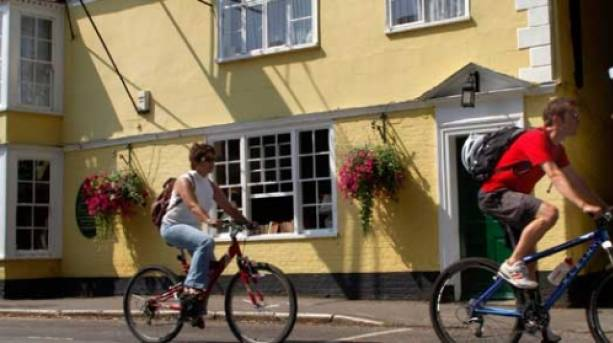 Cycling around Dedham is easy and relaxing