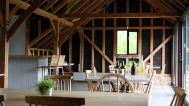 Wine bar overlooking quintessential English countryside
