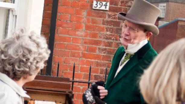 Charles Dickens' celebrations outside the museum
