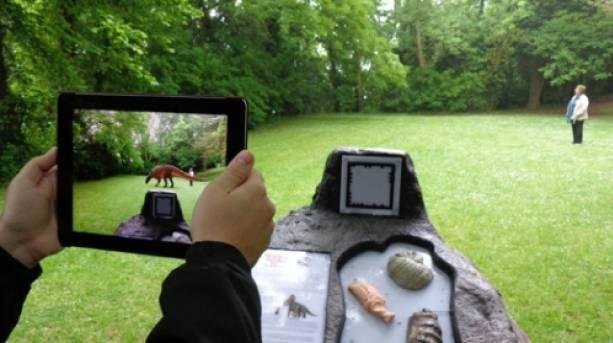 Dinosaur Island App in Action, Isle of Wight