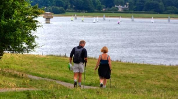 Walking towards Rutland Water