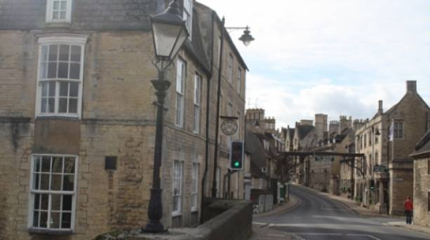 View of Georgian Buildings including  The George Hotel, Stamford