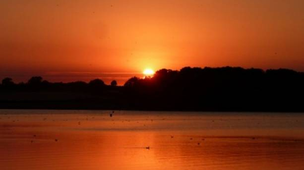 Sunset over Rutland Water South Shore