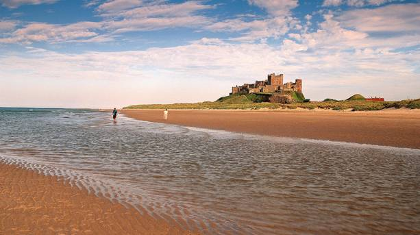 Bamburgh Castle Beach in Northumberland