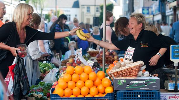 Doncaster Market - named best food market in Britain by the BBC