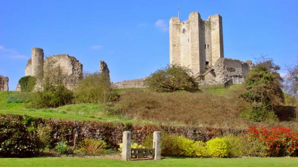 The imposing tower of Conisbrough Castle