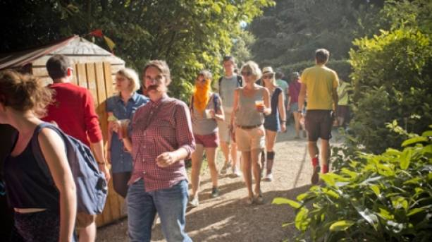 Festivalgoers at End of the Road Festival