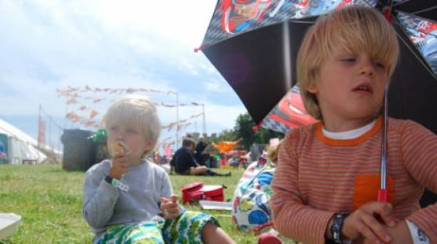 Eating ice cream at Camp Bestival