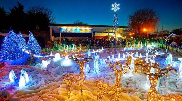 Winter Wonderland illuminations at Drusillas