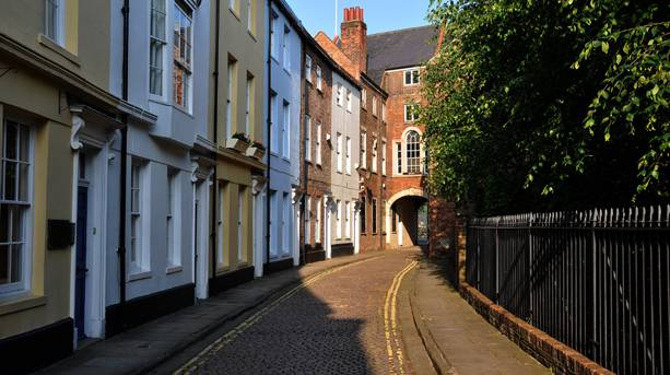 Quaint street in Hull