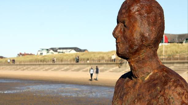 Gormley on the Dunes