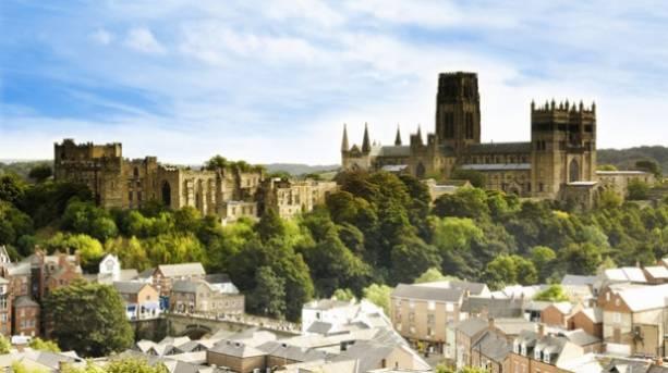 Durham City skyline in summer