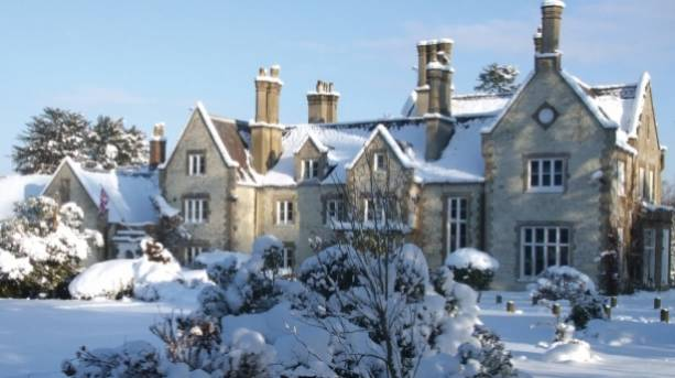 Langrish House in the snow