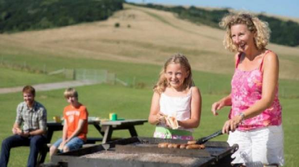 Family barbeque at Queen Elizabeth Country Park