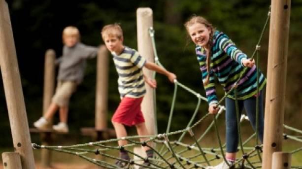 Adventure playground in Queen Elizabeth Country Park