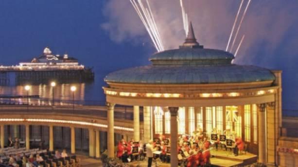 Fireworks over Eastbourne Bandstand
