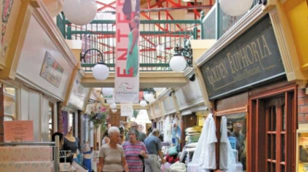 Explore shops in a former Victorian Railway building