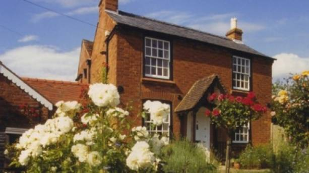 A view from the garden of the Elgar Birthplace Museum