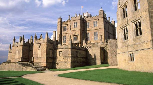The battlements at Bolsover Castle