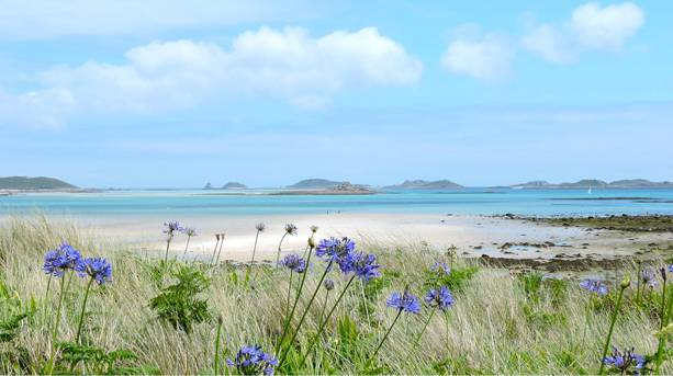 White sand beaches on the Isles of Scilly