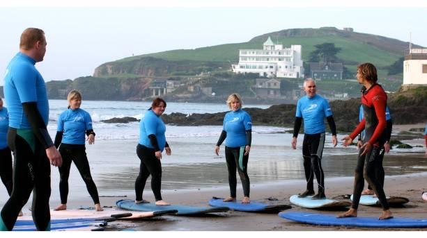 Surfing in South Devon