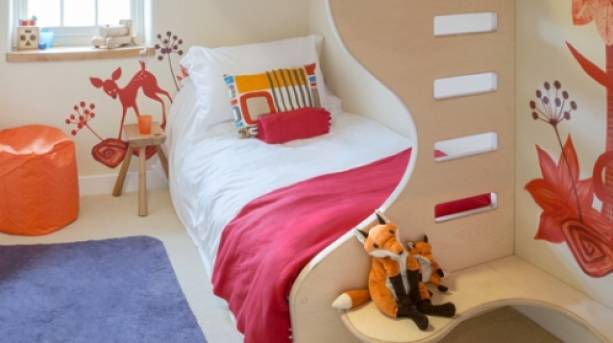 A childrens' bedroom at Nelson Barn, Cumbria