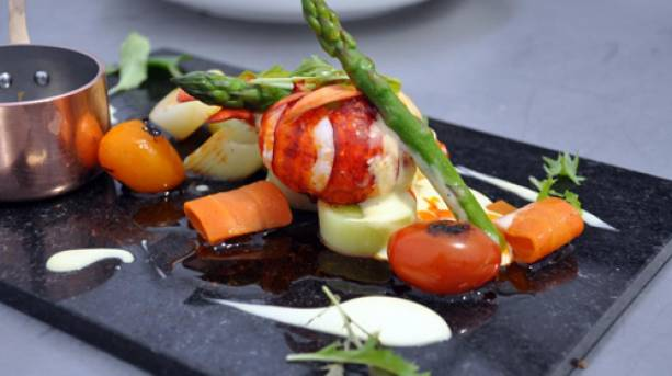A seafood meal