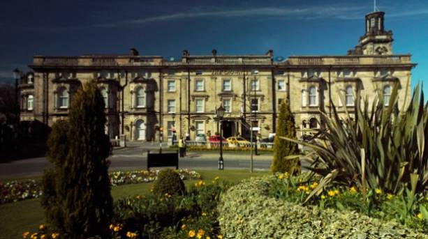 The front of the Crown Hotel in Harrogate