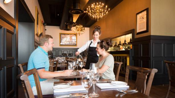 A couple dinning at 1884 Dock Street Kitchen in Hull