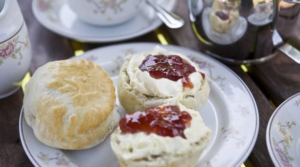 Afternoon tea at Dyrham Park
