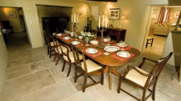 A family table at The Old Bakehouse, Peak District