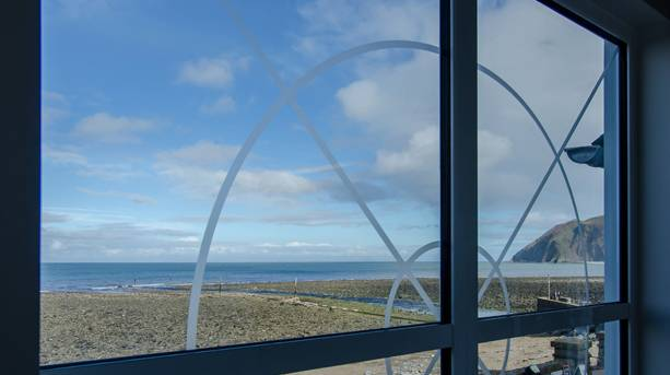 Enjoy lunch with a sea view at Lynmouth Pavilion