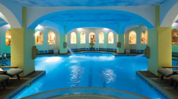 Relax and unwind in the Saltwater Vitality Pool at Hoar Cross Hall Spa