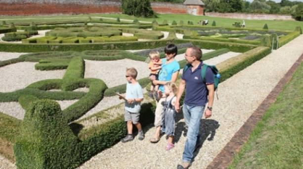 Enjoying the gardens at Basing House, Old Basing, Hampshire
