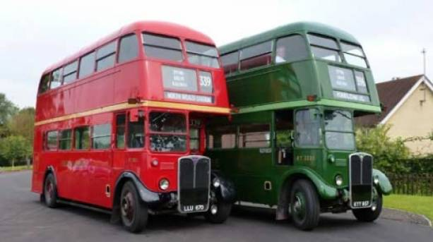 Classic vintage buses are included with your ticket
