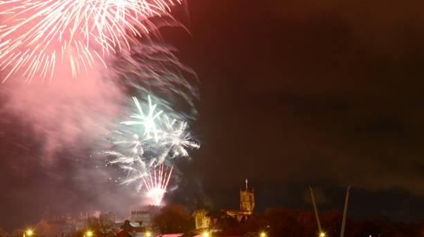 Fireworks at Light Up Lancaster