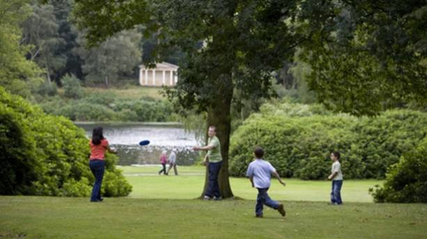 Children playing at Clumber Park